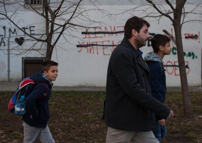 4 Mirko Popović walks his son's to their morning school classes in Belgrade, Serbia. Global Call for Climate Action / Greg McNevin